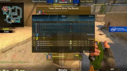 CS_GO - Vexed Gaming vs. Team Secret - Група A - INTEL Challenge Katowice 2017