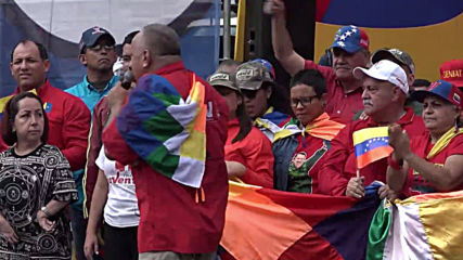 Venezuela: Maduro supporters march in solidarity with Bolivia's Morales