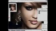 Джесика Алба - Преобразяване На Photoshop