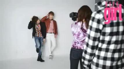 Shinee - Elle Girl Japan [making film - photoshoot]