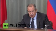 Russia: Lavrov calls on US-led coalition to cooperate with Syrian Army against ISIS