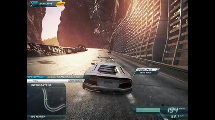 Need For Speed Most Wanted 2 - Lamborghini 311km/h Crashed ;)