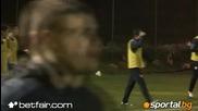 Емоции с топка в ръка, Пинто разцъква в първата тренировка в Кипър