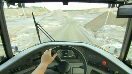 Volvo Articulated Hauler (dump trucks) F-series A25f, A30f, A35f, A40f walk-around video
