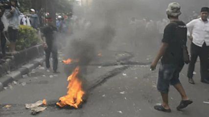 Indonesia: Clashes erupt during anti-corruption demo in Jakarta