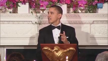 Барак Обама пее Born This Way на Lady Gaga Голям Смях!