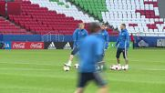 Russia: Russia limbers up ahead of Mexico game in Kazan
