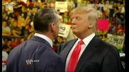 R A W 06/22/09 Donald Trump & Vince Mcmahon си говорят на виско тон. Vince уволнява Trump..