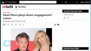 Sean Penn Plays Down Engagement Rumor