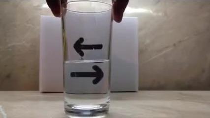 Зрителна измама с чаша и вода