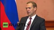 Русия: Медведев се срещна с бразилският вицепрезидент Темер в Москва
