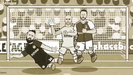 Арсенал - Манчестър сити 2:2, пародия