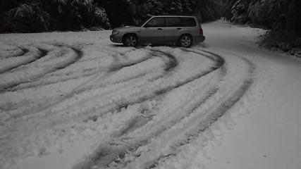 Първи сняг 10.10.2011 - Subaru Forester