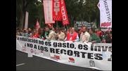 Бурно обществено недоволство срещу съкращенията заля Испания