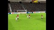 Fifa 10 - Далечен гол на Xavi