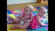 twins playing
