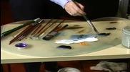 S04 Радостта на живописта с Bob Ross E04 - зимен пейзаж ღобучение в рисуване, живописღ