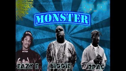 Страшна Комбинация ! Eazy E , 2pac & Biggie - Monster ( Remix )
