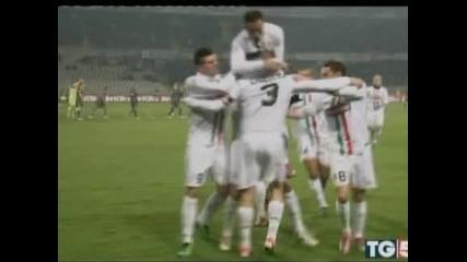 """С гол в последната минута на Красич """"Ювентус"""" спечели дербито срещу """"Лацио"""" с 2:1"""