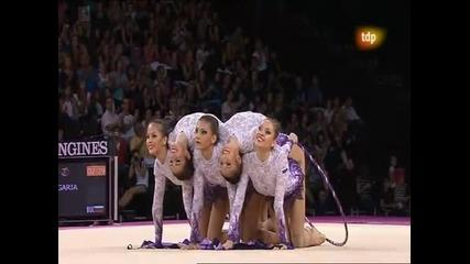 Невероятното съчетание с което българските гимнастички грабнаха златото на Световната купа 25.09.11