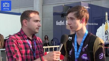 Интервю с Bjergsen от Lol отбора на Nip - Afk Tv на Gamescom 2013