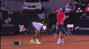 Pablo Cuevas Clears a Bug After Ballboy's Epic Fail - Rio Open 2015