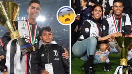 Роналдо вдигна купата с Ювентус, но контузи куриозно сина си
