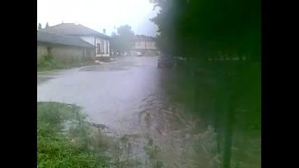 Проливен дъжд в с. Салманово 2