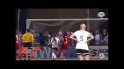 03/09 Невероятeн гол на жена в стил Кристиано !