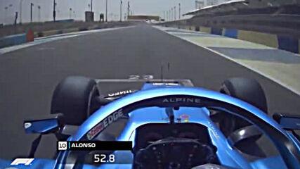 Фернандо Алонсо Тества Болидът Алпин A 521 Във Бахрейн ( Вторият Ден От Предсезонните Тестове)