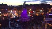 France: Watch a time-lapse of commemorations at the Place de la Republique, Paris