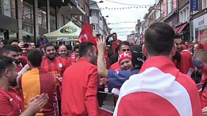 France: Turkey and Czech Republic fans flood Lens ahead of final group game