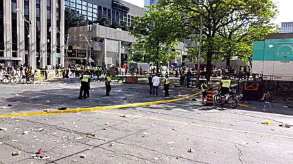 Canada: Police lockdown Toronto after shooting at Raptors victory parade