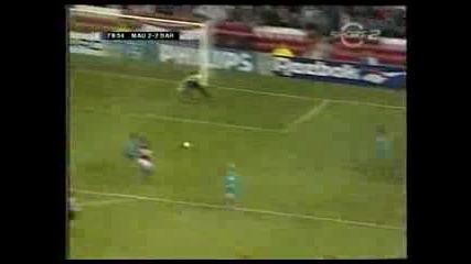 Sharpe Back Heel Man Utd - Barcelona 94 - 95