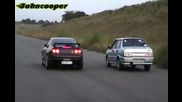 Ваз 21099 vs Nissan Skyline Gtr R33