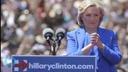 Clinton Portrays Herself as Champion of Progress on Roosevelt Island