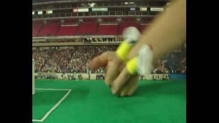 Футбол с обувки за пръсти Много яко !!!