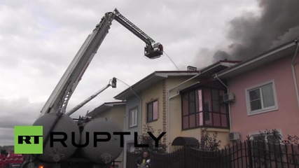 Russia: Blaze destroys 16 apartments in elite village near Chelyabinsk