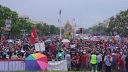 Thailand: Hundreds demand PM's resignation and mark coup anniv with motorcade