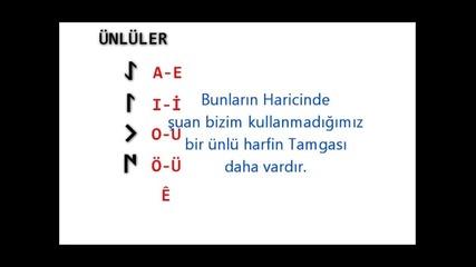 Kadim (eski) Turk Abecesi (alfabesi) - 4. Bolum