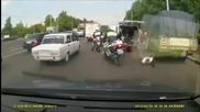 Руснаци се бият по пътищата