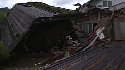 Japan: Farms in Kuma village left nearly destroyed in severe floods