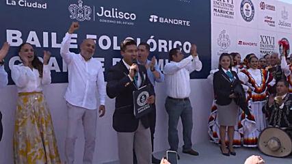 Mexican folk dancers break world record at Guadalajara festival