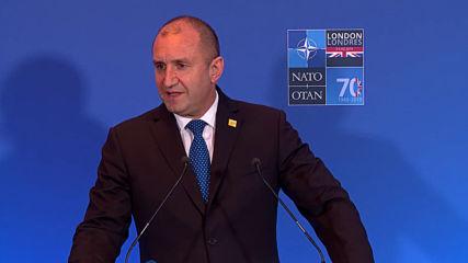 Радев: Ние сме втората страна в НАТО, след САЩ с такъв висок разход за отбрана - 3,25 %