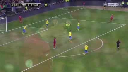 Кристиано Роналдо Срещу Швеция 13 - 14 ( Английски Коментар ) H D
