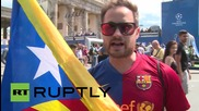 Germany: Juve, Barcelona fans limber up for Champions League final