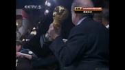 Бразилия спчели купата на Конфедерациите - Награждаване