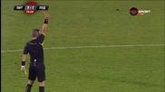 Йордан Минев с червен картон в дербито с Литекс