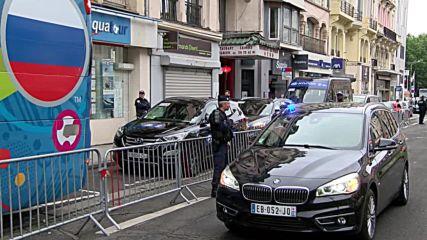 France: Russia team arrive at Roubaix hotel ahead of Slovakia clash