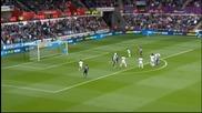 ВИДЕО: Първото полувреме на Суонси - Манчестър Сити